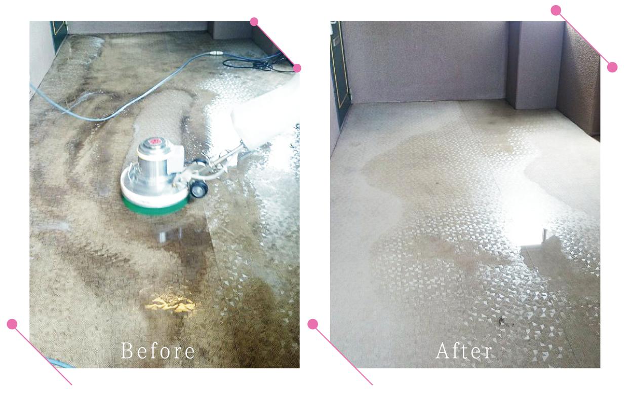 【清掃例】マンション共用部の床洗浄