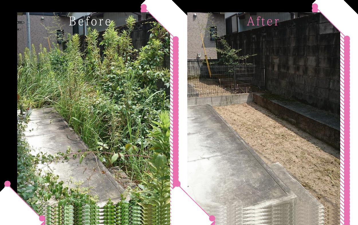 【清掃例】お庭の除草作業
