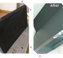 【清掃例】台所換気扇フードの塗装(大分市のハウスクリーニングM&m)