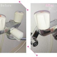 【清掃例】浴室 蛇口まわり(大分市のハウスクリーニングM&m)