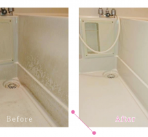 【清掃例】浴室 床・壁面(大分市のハウスクリーニングM&m)