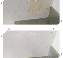 【清掃例】キッチン 壁の油汚れ(大分市のハウスクリーニングM&m)