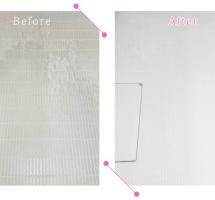 【清掃例】浴室 床面の汚れ(大分市のハウスクリーニングM&m)