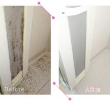 【清掃例】浴室 扉・床(大分市のハウスクリーニングM&m)