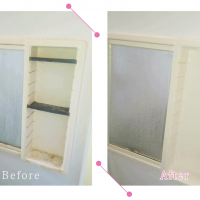 【清掃例】浴室 鏡台(大分市のハウスクリーニングM&m)