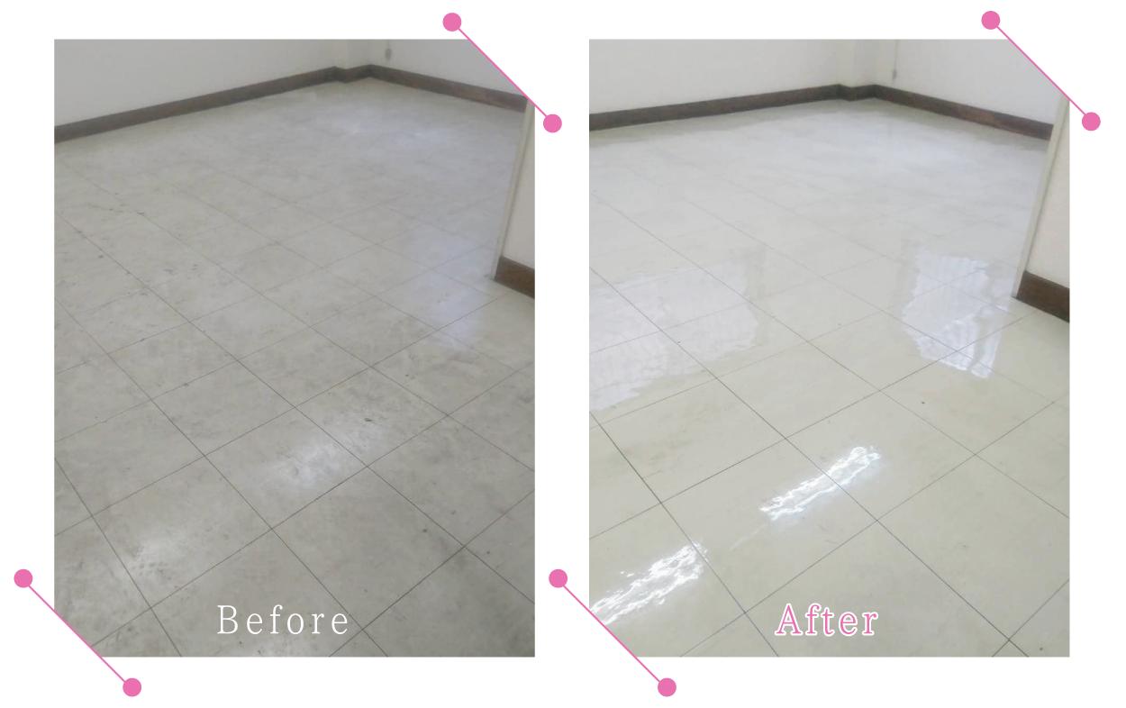 【清掃例】事務所スペースの床洗浄