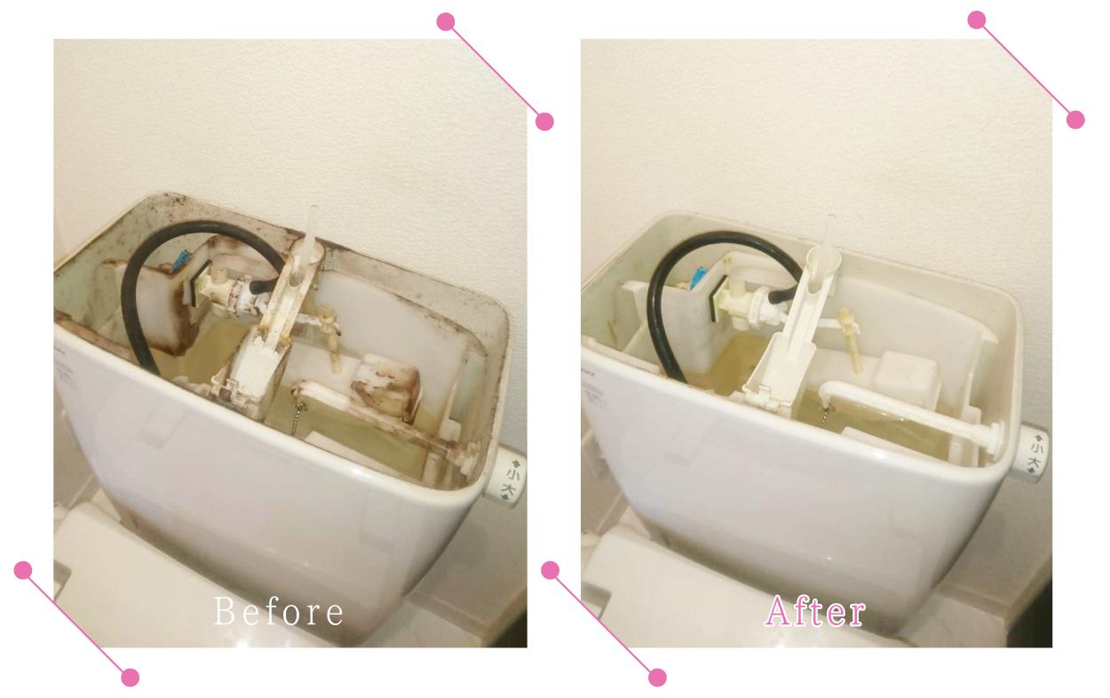 【清掃例】トイレタンク