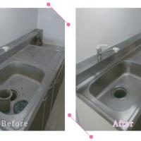 【清掃例】キッチン 流し台(大分市のハウスクリーニングM&m)
