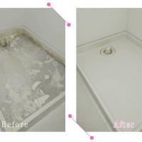 【清掃例】浴室 洗濯機底面(大分市のハウスクリーニングM&m)