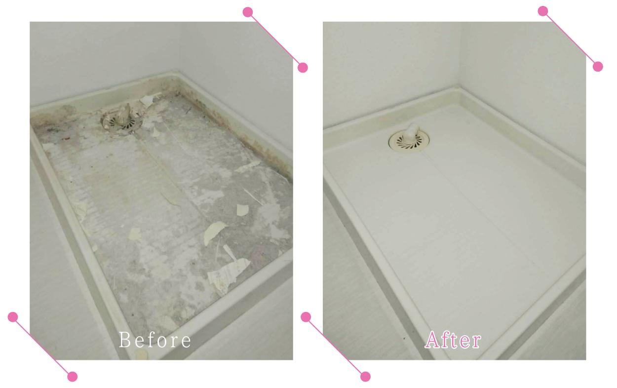 【清掃例】浴室 洗濯機底面