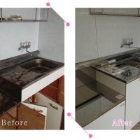 【清掃例】キッチン(大分市のハウスクリーニングM&m)