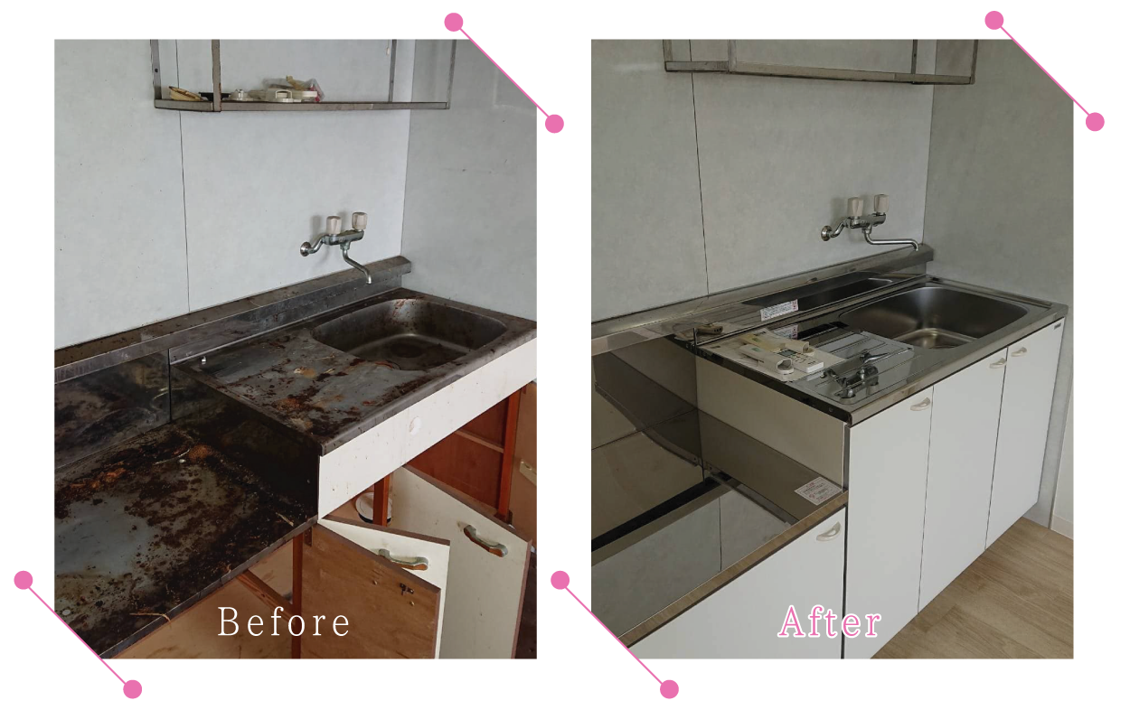 【清掃例】キッチン