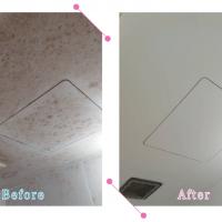 【清掃例】バスルーム天井(大分市のハウスクリーニングM&m)