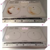 【清掃例】キッチン IHクッキングヒーター(大分市のハウスクリーニングM&m)