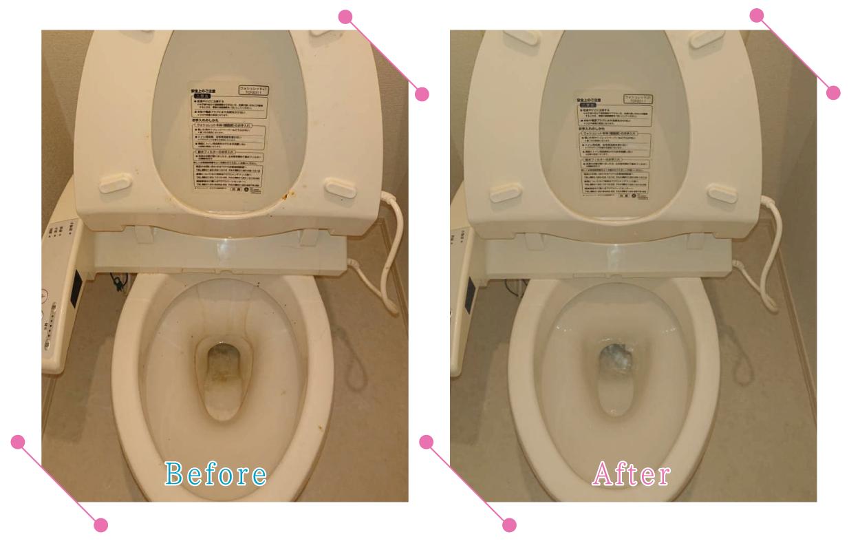 【清掃例】トイレ 便器