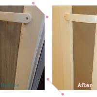 【清掃例】浴室扉メンテナンス(大分市のハウスクリーニングM&m)