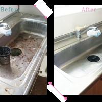 【清掃例】キッチンの流し台(大分市のハウスクリーニングM&m)