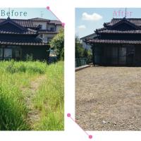 【清掃例】お庭の除草作業(大分市のハウスクリーニングM&m)