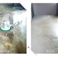 【清掃例】マンション共用部の床洗浄(大分市のハウスクリーニングM&m)