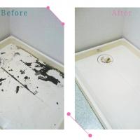 【清掃例】洗濯機下(大分市のハウスクリーニングM&m)