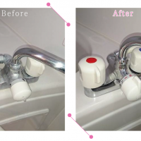 【清掃例】浴室内の蛇口(大分市のハウスクリーニングM&m)
