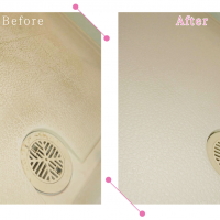 【清掃例】浴室 床面(大分市のハウスクリーニングM&m)