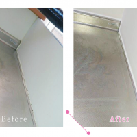 【清掃例】台所のコーキング(大分市のハウスクリーニングM&m)