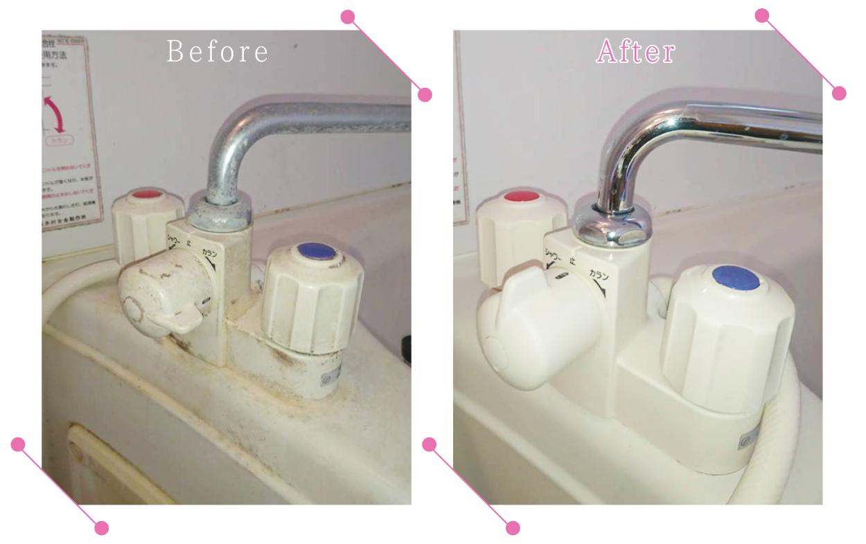 【清掃例】浴室 蛇口まわり