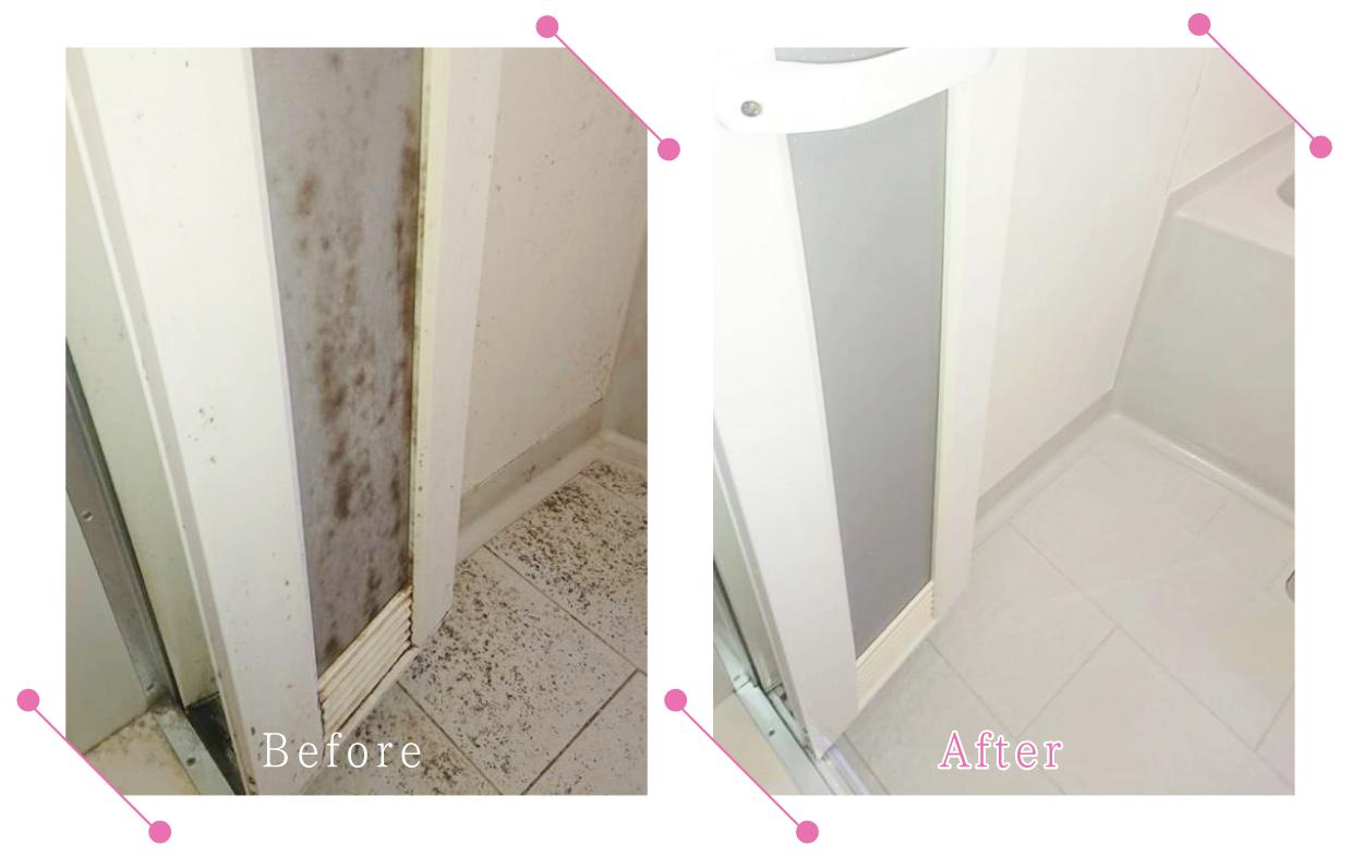 【清掃例】浴室 扉・床