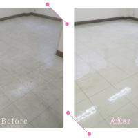 【清掃例】事務所スペースの床ワックス(大分市のハウスクリーニングM&m)