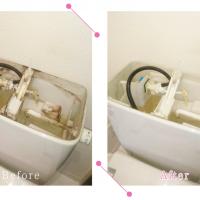 【清掃例】トイレタンク(大分市のハウスクリーニングM&m)