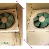 【清掃例】キッチン 換気扇(大分市のハウスクリーニングM&m)
