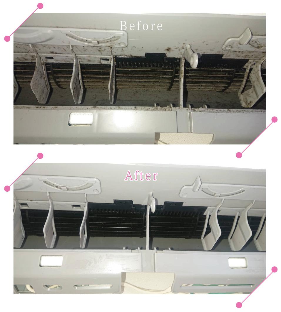 【清掃例】エアコン洗浄(大分市のハウスクリーニングM&m)