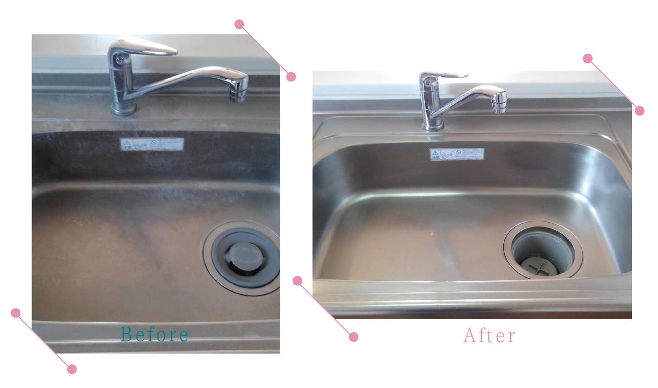 【清掃例】キッチン流し台