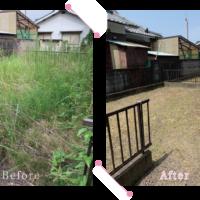 【清掃例】敷地 草刈り2(大分市のハウスクリーニングM&m)