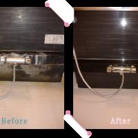 【清掃例】浴室蛇口周り(大分市のハウスクリーニングM&m)