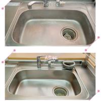 【清掃例】キッチン流し台(大分市のハウスクリーニングM&m)