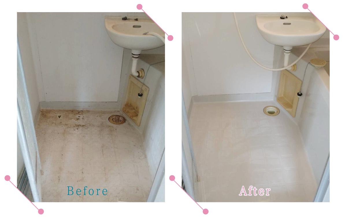 【清掃例】浴室床メンテナンス(大分市のハウスクリーニングM&m)
