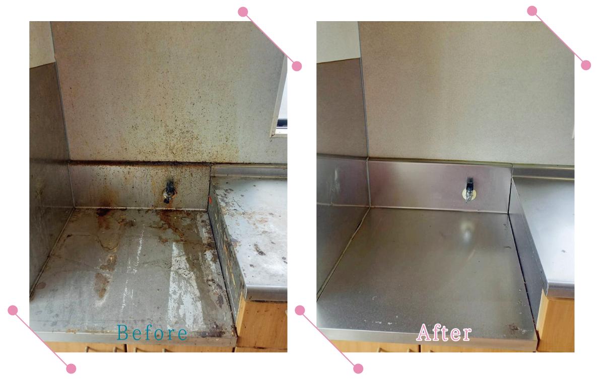 【清掃例】キッチンコンロまわり